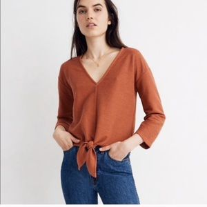 Madewell Texture & Thread Burnt Orange Front Tie